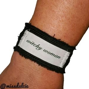 Witchy Woman Bracelet Cuff Witch Quote Wiccan Goth